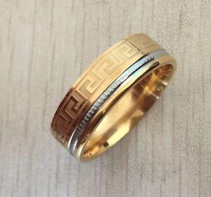 bague-alliance-medievale-acier-inoxydable-plaque-or-et-argente-largeur-8mm-B