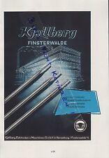 FINSTERWALDE, Werbung 1958, Kjellberg Elektroden-Maschinen GmbH Schweißumformer