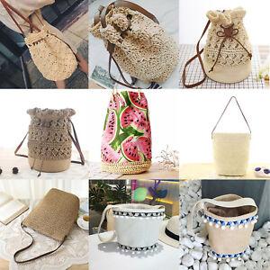 Ladys-Beach-Bucket-Straw-Woven-Women-Bucket-Handbag-Summer-Totes-Shoulder-Bags