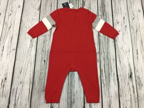 Nwt Details about  /Baby Gap Boys 3-6 Months Red Mickey Mouse Sweater Romper Jumpsuit