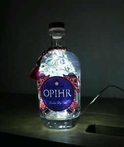 Upcycled-Modern-Cool-Opihr-Gin-Bottle-Lamp-Retro-Rare-by-iluvlamp