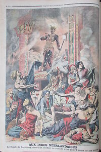Indies-Bali-Suicide-Rajah-of-Boeleleng-and-400-Topics-Engraving-Petit-Diary-1906