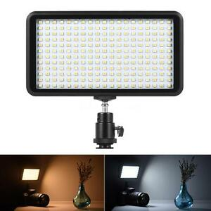 228 LED Video Light Lamp Panel Dimmable 20W 2000LM for Camera DV Camcorder I7V0