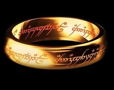 Sensible Gold Lord Of The Rings Ring Mens Jewellery Magic Wizzard Engagement Middle Earth Fashion Jewelry
