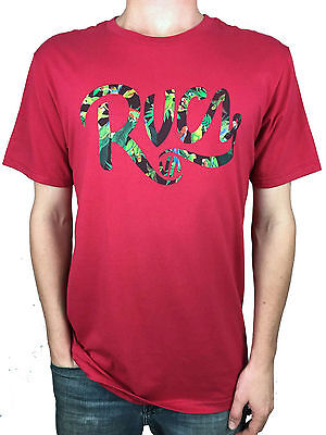 X-Large. Tropical Logo Medium RVCA Large Red Standard Tee Mens Size: Small