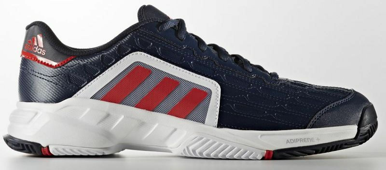 ADIDAS mens barricade court 2 tennis trainers shoes  7 10 10.5 11 bluee red new