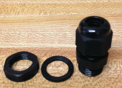 """Lot of 10 1//4 /"""" NPT NEW gasket Strain Relief Cord Grip Cable Gland w//nut"""