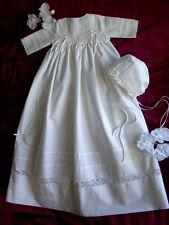 Taufkleid, traditionell, Linon,2-teilig, Mädchen/Junge ab Größe 50- 92 lieferbar