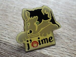 Pin-039-s-vintage-epinglette-pins-publicitaire-J-039-aime-Shell-station-Lot-G109