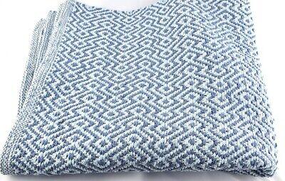 Ragionevole 100% Cotone Blu Tappeto 90 X 150 Cm Di Indra-