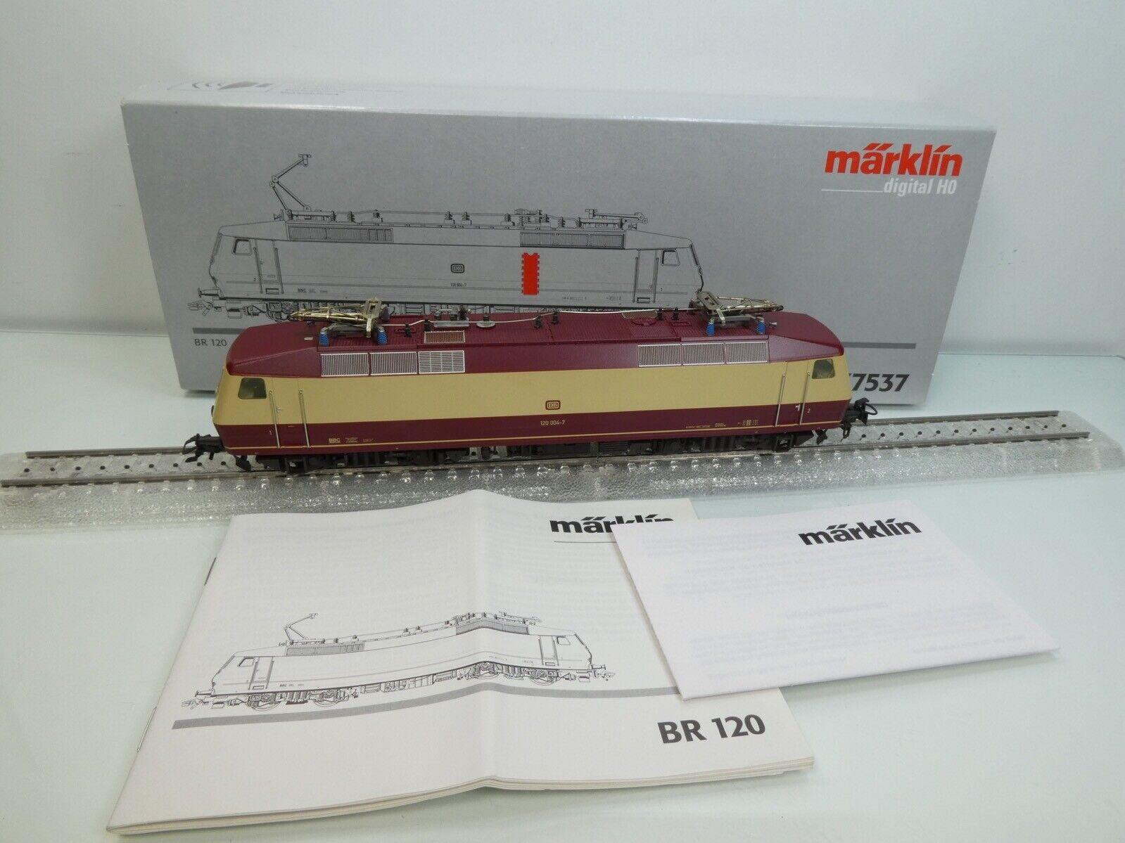 Märklin 37537 - H0 - DB - E-Lok 120 004-7 - Digital-Sound - TOP in OVP -  4244