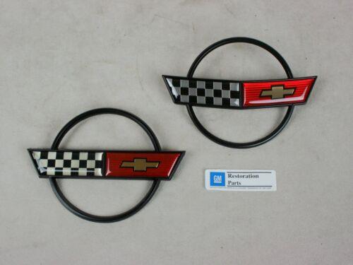 C4 Corvette Hood AND Fuel Gas Door Emblem 84 85 86 87 88 89 90 1984 1985 1986