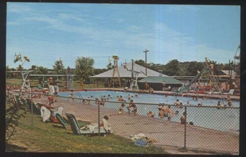 POSTCARD BOWLING GREEN KYKENTUCKY BEACH BEND AMUSEMENT PARK SWIMMING POOL 1950s