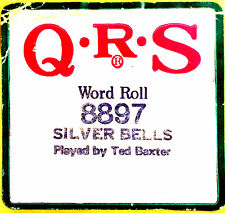 QRS Holiday Word Roll SILVER BELLS 8897 Ted Baxter Christmas Player Piano Roll