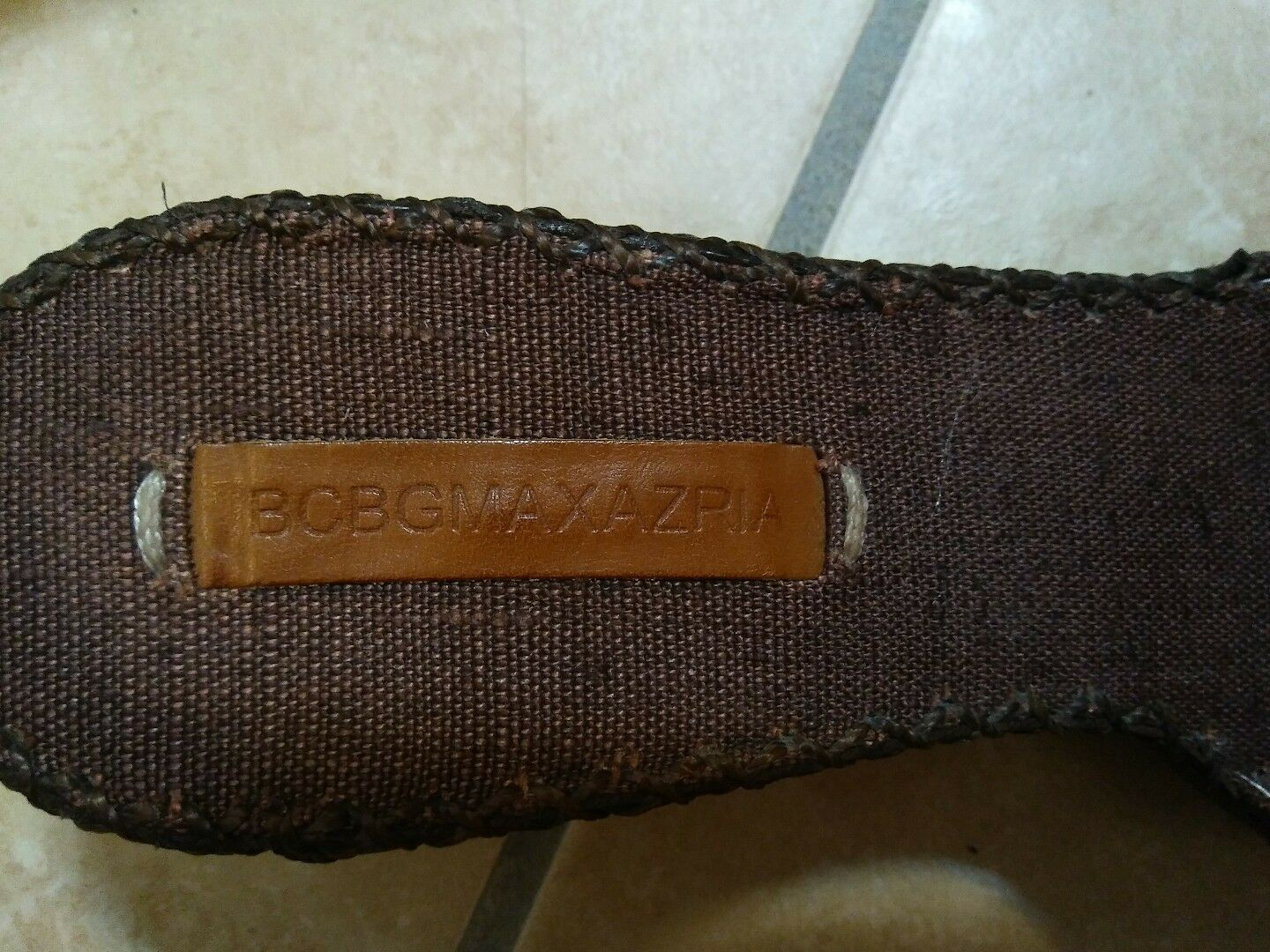 Womens slip on sandles Java linen linen linen glossy wrinkled ma-brown2 hardly ever used ccee55