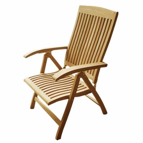 """5 réglages Lex Teck-chaise /""""Elegant doorside/"""""""