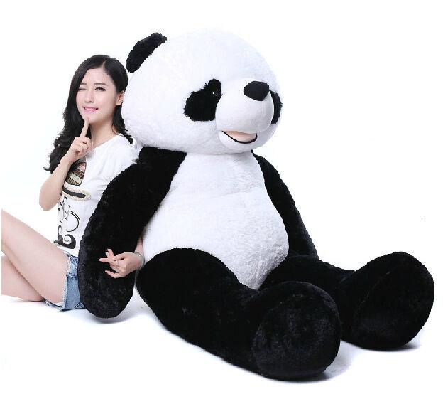 72'' Big Panda Stuffed Bolster Plush Giant Doll Toy Animals Pillow Kid Presents