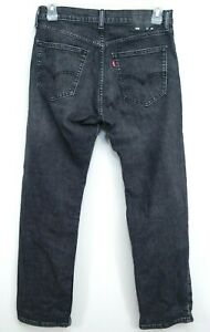 Levis-Mens-505-1594-Dark-Gray-Regular-Fit-Straight-Leg-Denim-Jeans-32-x-30