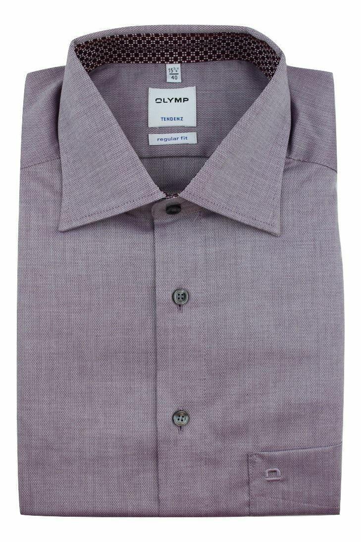 Aubergine Textured Spread Collar