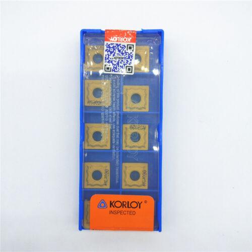 10pcs KORLOY SNMG120404-HA NC3020 Carbide Inserts New