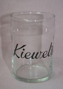 Details About Kiewel S Brewery Beer Glass 6 Oz Black Label Winnipeg 1950 S Vintage