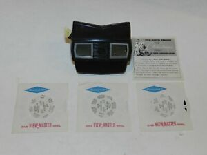 Vintage Sawyer's Brown Stereoscope View Master Viewer + Free Reel Set 1950s