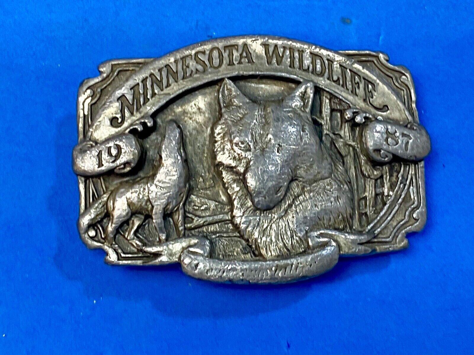 Vintage 1987 Commemorative Timber Wolf State of MN Minesota Wildlife series