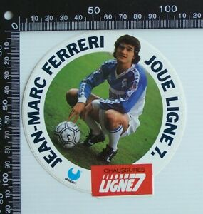 VINTAGE-JEAN-MARC-FERRERI-JOUE-LIGNE-7-CHAUSSURES-UHLSPORT-ADVERTISING-STICKER