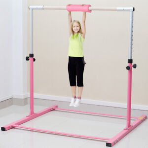 16ce3f91546d Image is loading 4FT-Adjustable-Horizontal-High-Bars-Gymnastics-Junior-Kids-