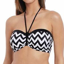 bcf87c438276e Freya Swimwear Making Waves Underwired Non Padded Bandeau Bikini Top Black  2948