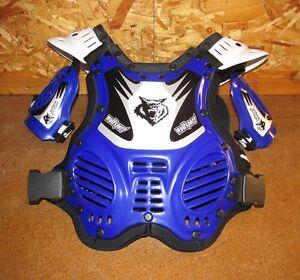 Kids-MX-Motorcross-Wulfsport-Cadet-Tabard-Stone-Deflector-3-8yrs-Blue-BC34556-T