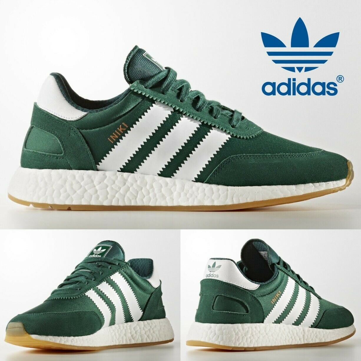 ADIDAS INIKI RUNNER NMD ULTRA BOOST R1 MENS GREEN SHOES HAMBURG GAZELLE BY9726