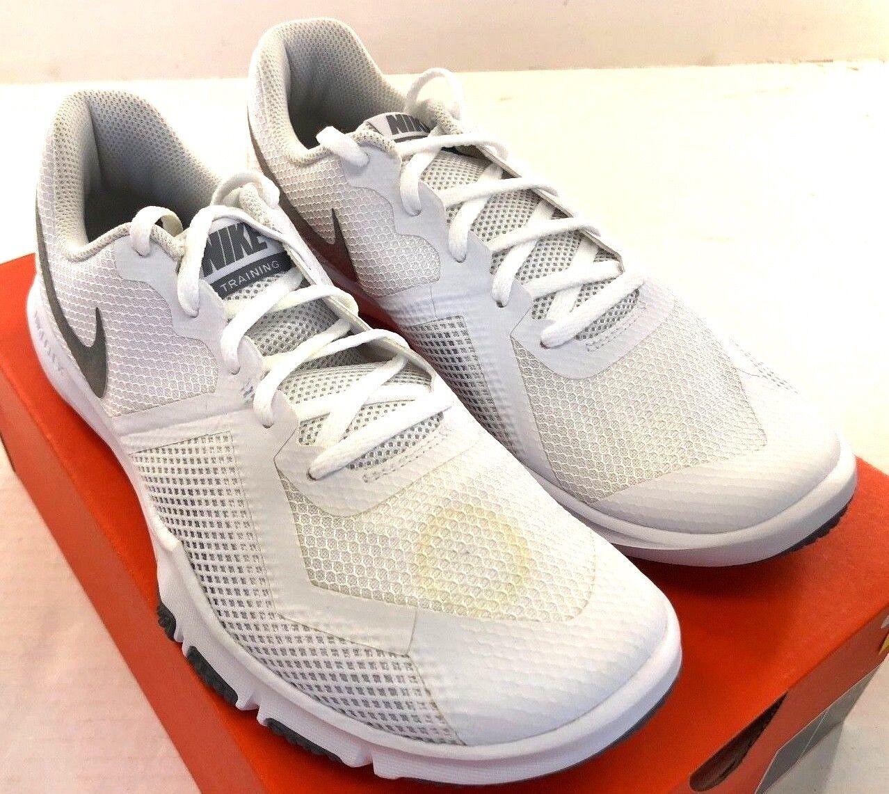 Nike flex control ii männer laufschuhe 924204-100 weißes mesh nwd
