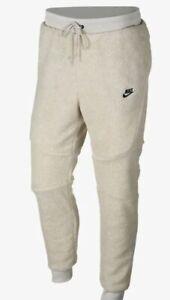 NWT-Nike-Tech-Fleece-Icon-Sherpa-Jogger-Pants-Light-Bone-AQ2769-072-Mens-XL-NEW