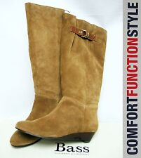 $129 BASS Leather Knee High Boots 7M Shoes Winter Comfy Women Lady Youth Gift BR