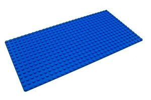 "LEGO LOT OF 2 NEW 16 X 32 DOT BLUE BASEPLATE PLATFORM 5/"" X 10/"" PLATES WATER"
