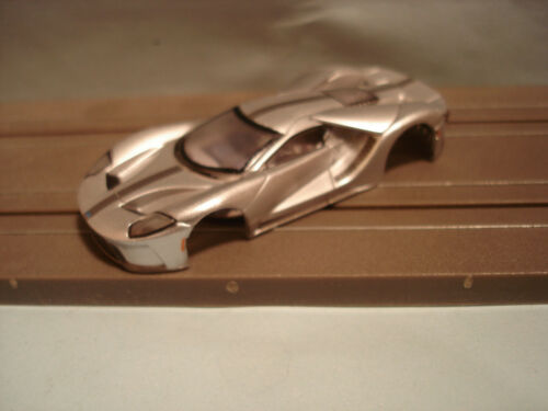SCALE SLOT CAR BODY ONLY FORD GT 40 MKII IN SILVER BLACK STRIPES TOMY AFX H.O