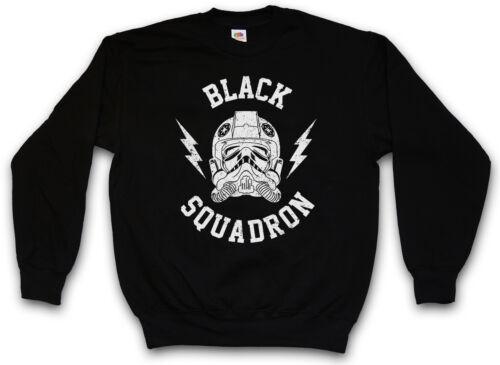 BLACK SQUADRON SWEATSHIRT Star Imperial Tie Fighter Wars Pilot Sweat Pullover