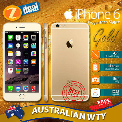 (NEW SEALED BOX) APPLE iPHONE 6 128GB 4G LTE GOLD FACTORY UNLOCKED 12MTH AUS WTY