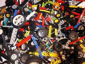 100-LEGO-Technic-Teile-Kreuz-Lochstangen-Liftarme-Zahnraeder-Technik-Konvolut