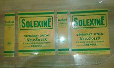 SOLEX  AUTOCOLLANT  POUR BIDON SOLEXINE JAUNE (en 4 piéces)