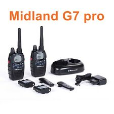 RICETRASMITTENTE Midland G7 Pro NERO Walkie Talkie C1090 G7pro radio 1 coppia