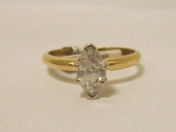 (RI1) Ladies 14K Yellow gold Diamond Ring - sz. 6.5 - 2.3 g - .71 TCW