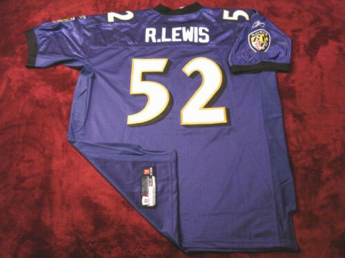 #52 RAY LEWIS BALTIMORE RAVENS HOF PURPLE NFL SEWN STITCHED JERSEY CHOOSE SIZE