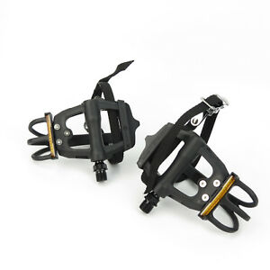 VP-Components-VP-335T-Bike-Bicycle-Ball-Bearings-9-16-034-Toe-Clip-Pedals-Black