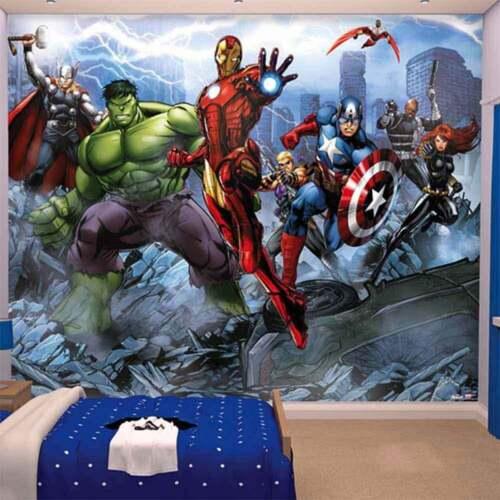 Marvel Avengers Wallpaper Mural 360cm x 254 cm