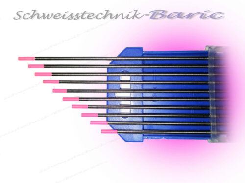 10 x Wolframelektrode Pink WX 3,2 x 175mm TIG WIG Argon Wolframnadeln