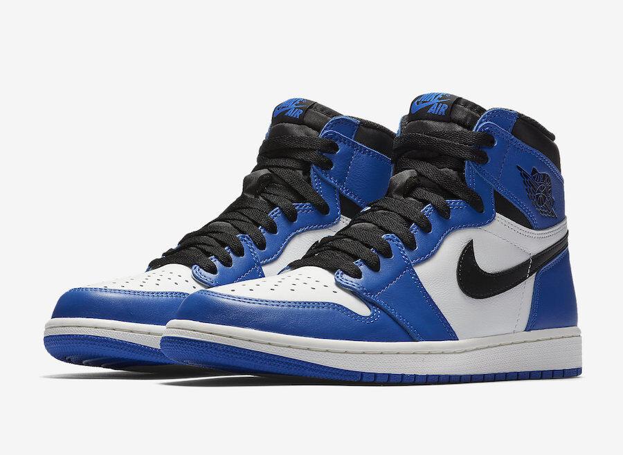 Nike Air Jordan Retro 1 High OG Size 6.5-12 Game Royal Black White 555088 403