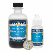 Survival Pack / Potassium Permanganate (6 Oz) And Glycerin (1 Oz) / Ships Fast