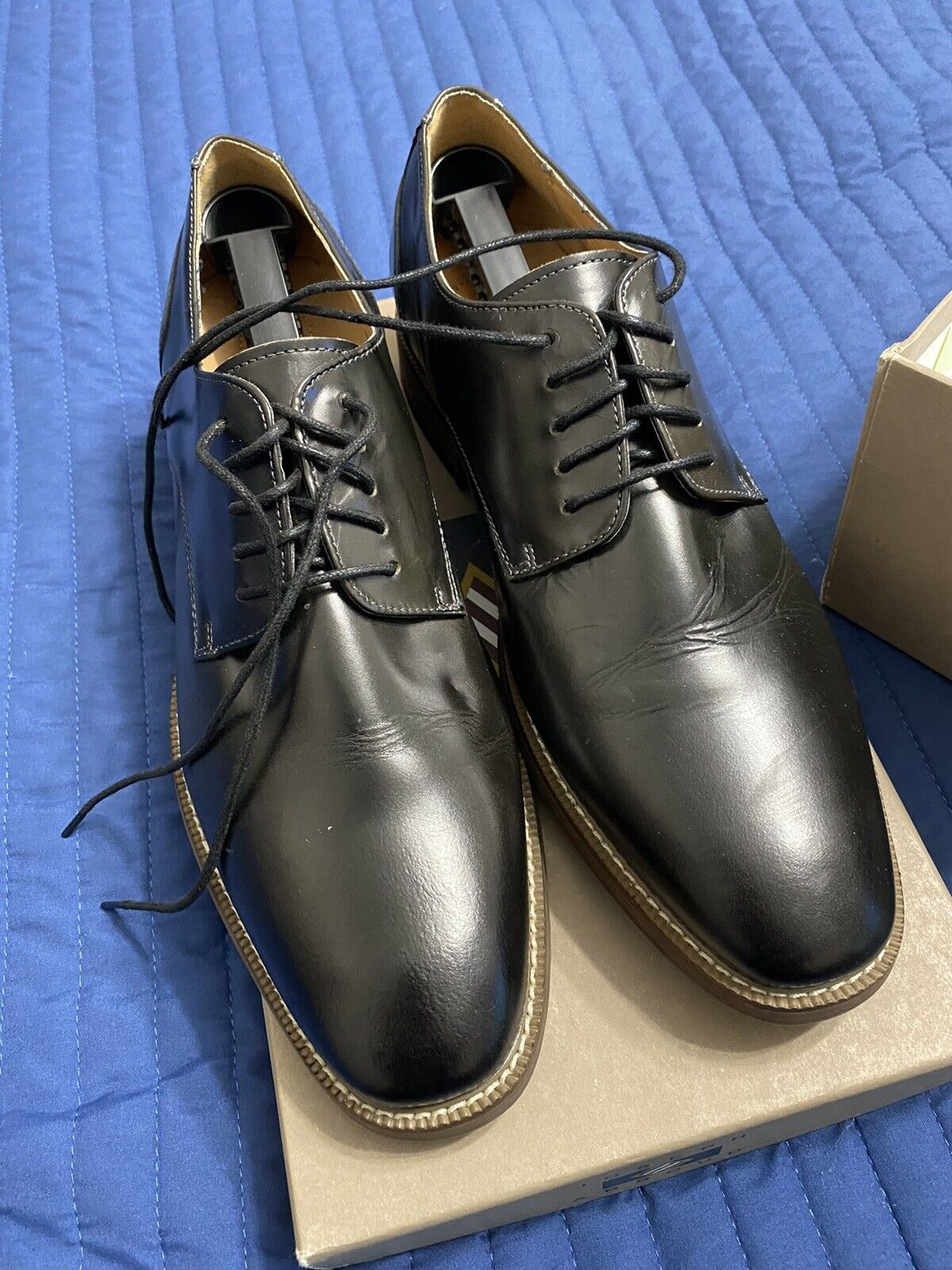 Joseph Abboud Mens Leather Dress / Casual Shoes Brown Size 11.5M New in box
